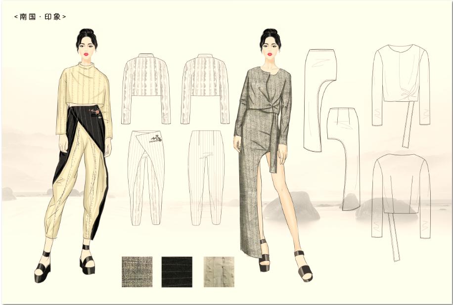 云南大学艺术与设计学院服装系学生普媛作品通过2016霓裳大理民族服